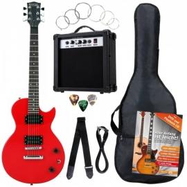 Rocktile Banger's Single Cut E-Gitarren Set Red