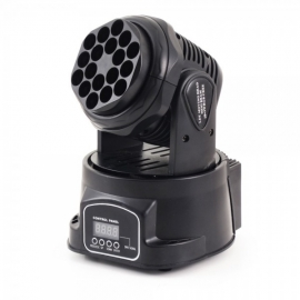 FLASH LED MOVING HEAD MINI BEAM 18x3W RGB CREE