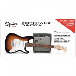 SQUIER STRATOCASTER SHORT SCALE CU AMPLIFICATOR FENDER 10G
