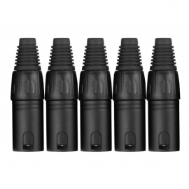 Pronomic XMPLUG Black set 5 mufe XLR tata