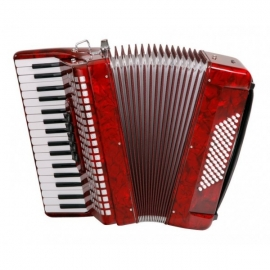"Classic Cantabile 72 Bass Accordion ""Secondo"" Red"