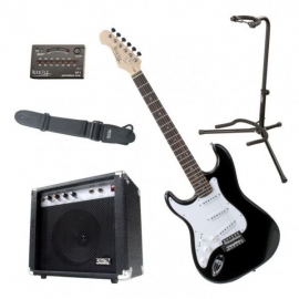 Rocktile Pro-ST3 BK Lefty Electric Guitar Set