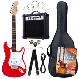 Rocktile Banger's Power Pack E-Gitarren Set Red