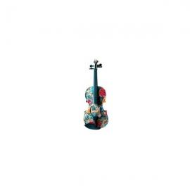 Flame MVT002W 4/4 vioara cu imprimeu floral
