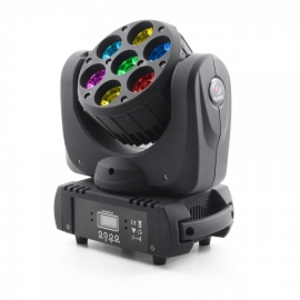 FLASH LED MOVING HEAD BEAM 7x15W RGBW 4in1 OSRAM 8° - 7 Sections