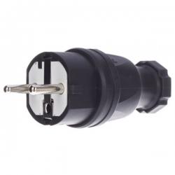 Stairville Rubber Plug EU/B/F Black