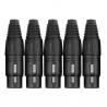 Pronomic XFPLUG Black set 5 mufe XLR mama