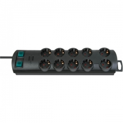 Brennenstuhl Primera-Line extension socket 10-way black 2m